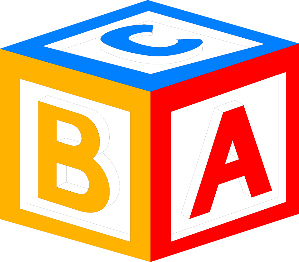 Abc . Preschool clipart block