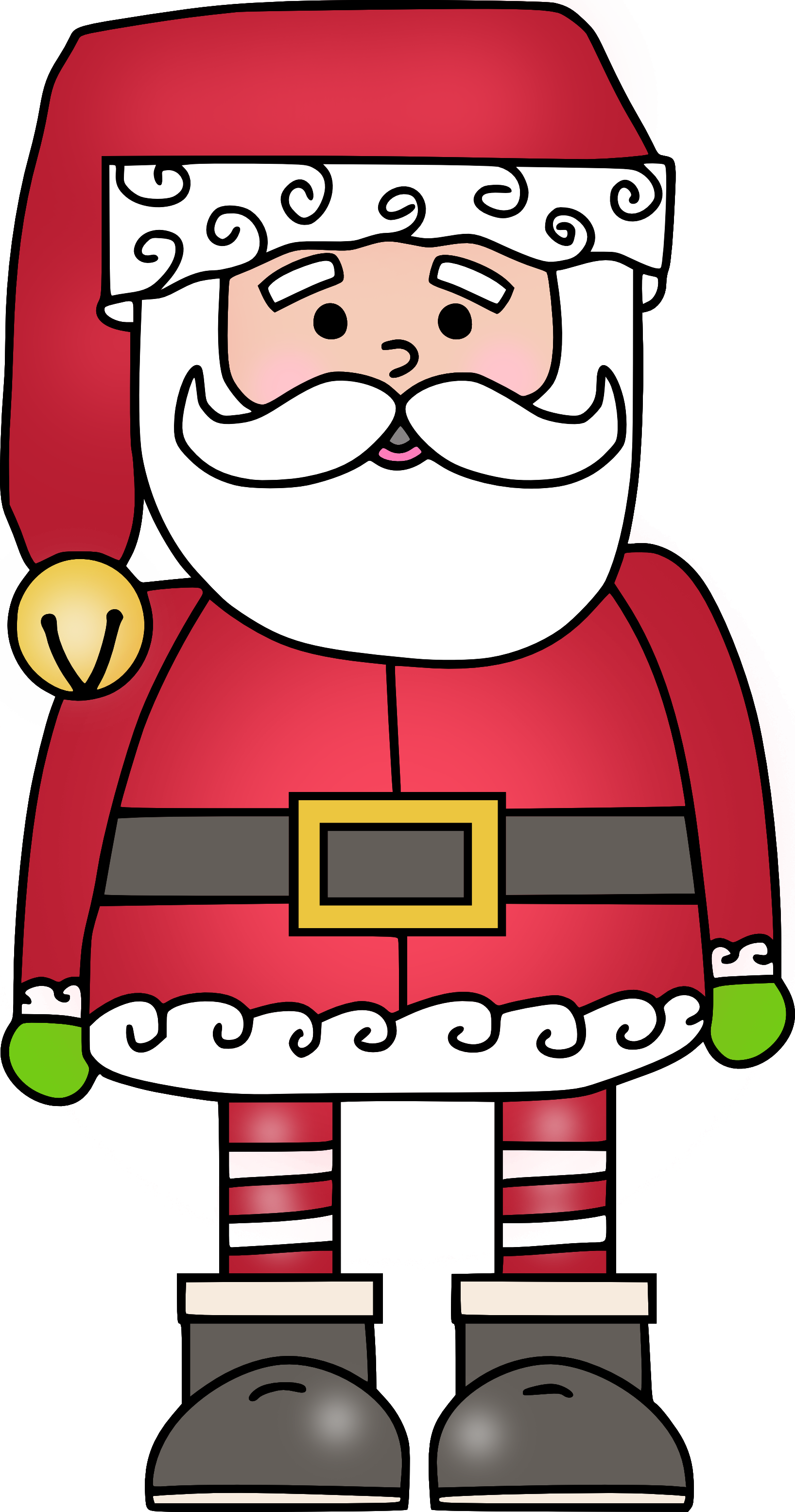 Santa clip art claus. Preschool clipart christmas