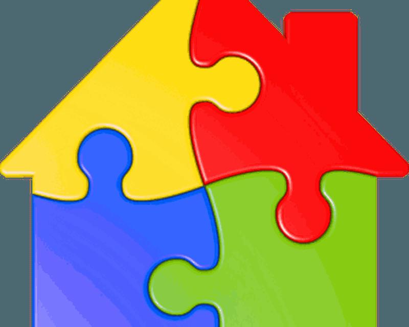 Jigsaw puzzles kids shape. Puzzle clipart preschool