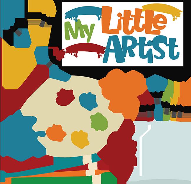 My little artist svg. Preschool clipart scrapbook