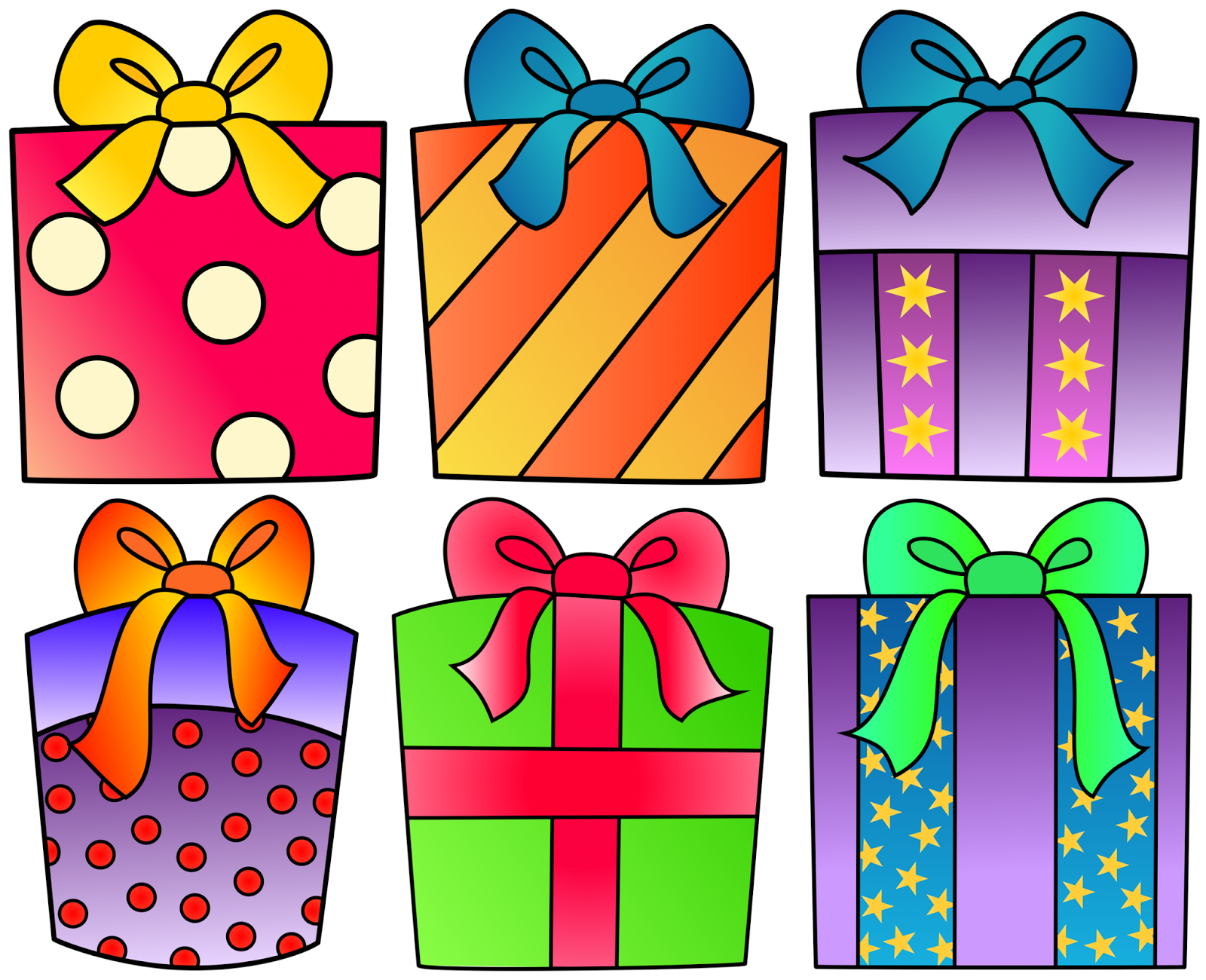 Birthday for your project. Clipart present one