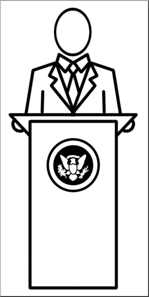 Clip art people b. President clipart