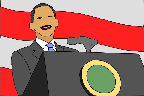 President clipart. Giving speech clip art