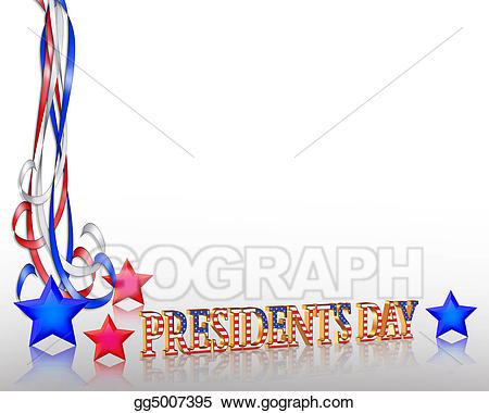 Drawing presidents day graphic. President clipart border