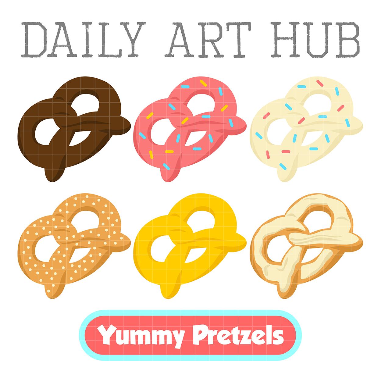 Pretzel clipart. Yummy pretzels clip art