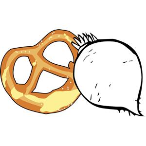 Radish cliparts of . Pretzel clipart bavarian pretzel
