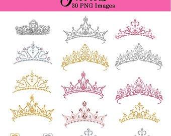 Etsy tiara glitter and. Princess clipart