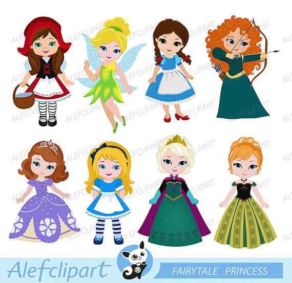 Princess clipart. Cute digital clipartcute clipartprincess