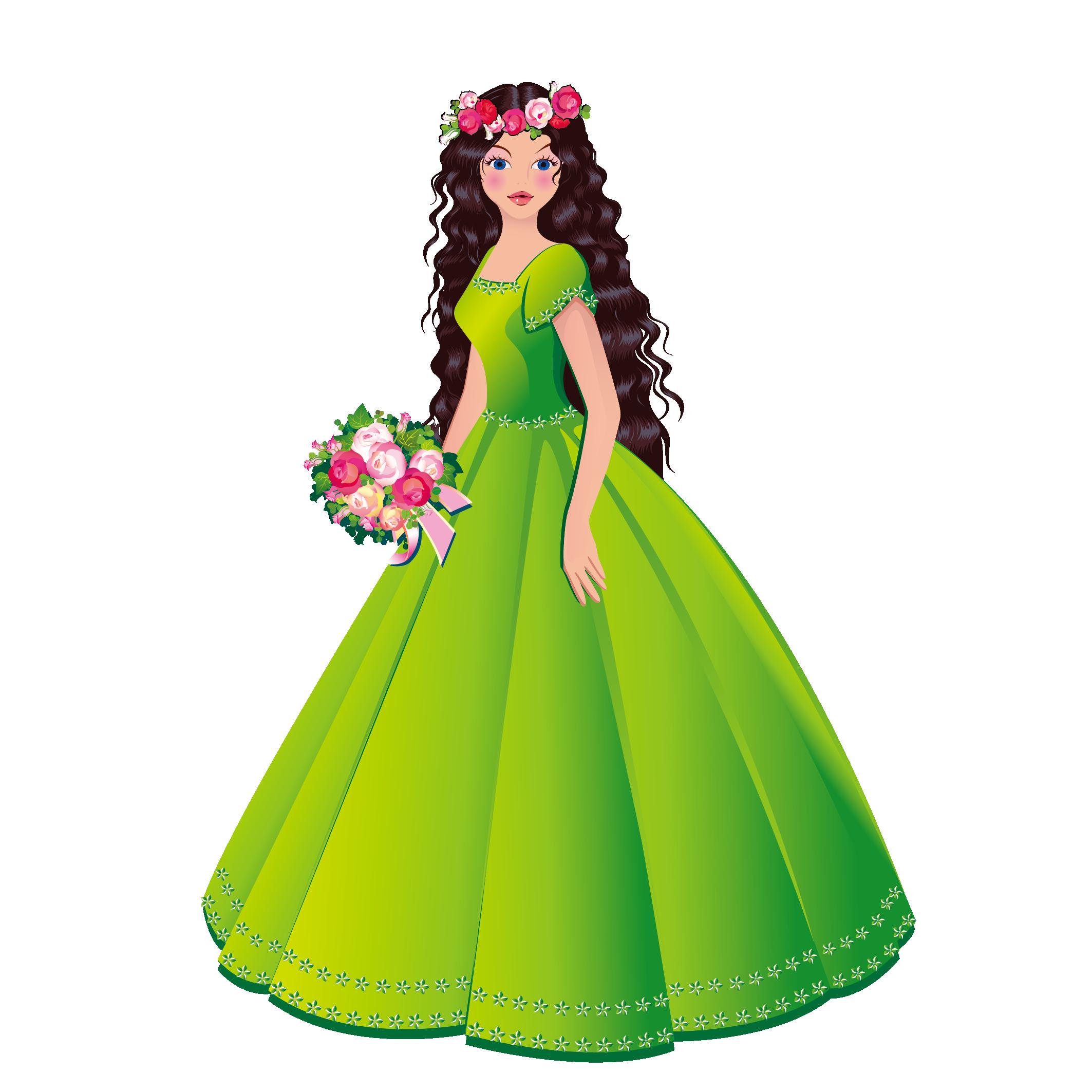 Princess clipart beautiful princess. Royalty free stock photography