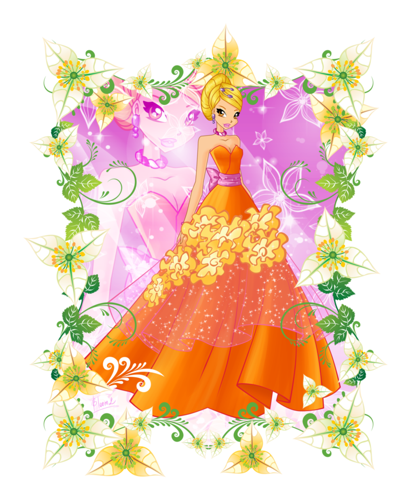Princess clipart flower. Stella by bloom on