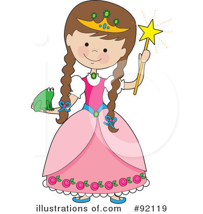 By maria bell . Princess clipart illustration