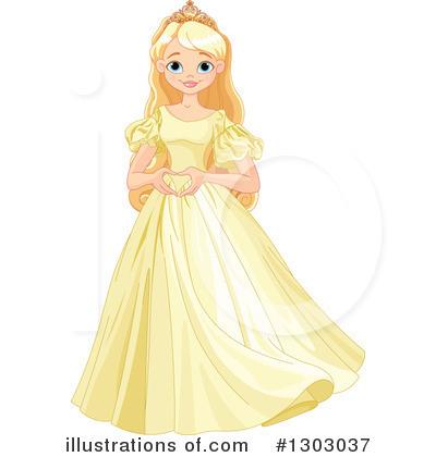 Princess clipart illustration. By pushkin