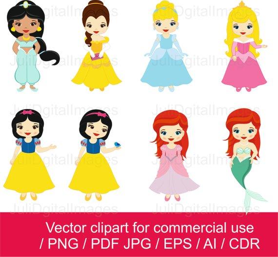 Princesses little . Princess clipart illustration