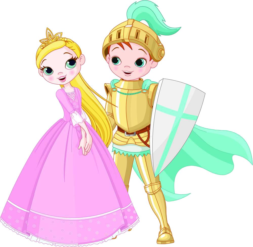Princess clipart knights. Knight cartoon illustration the