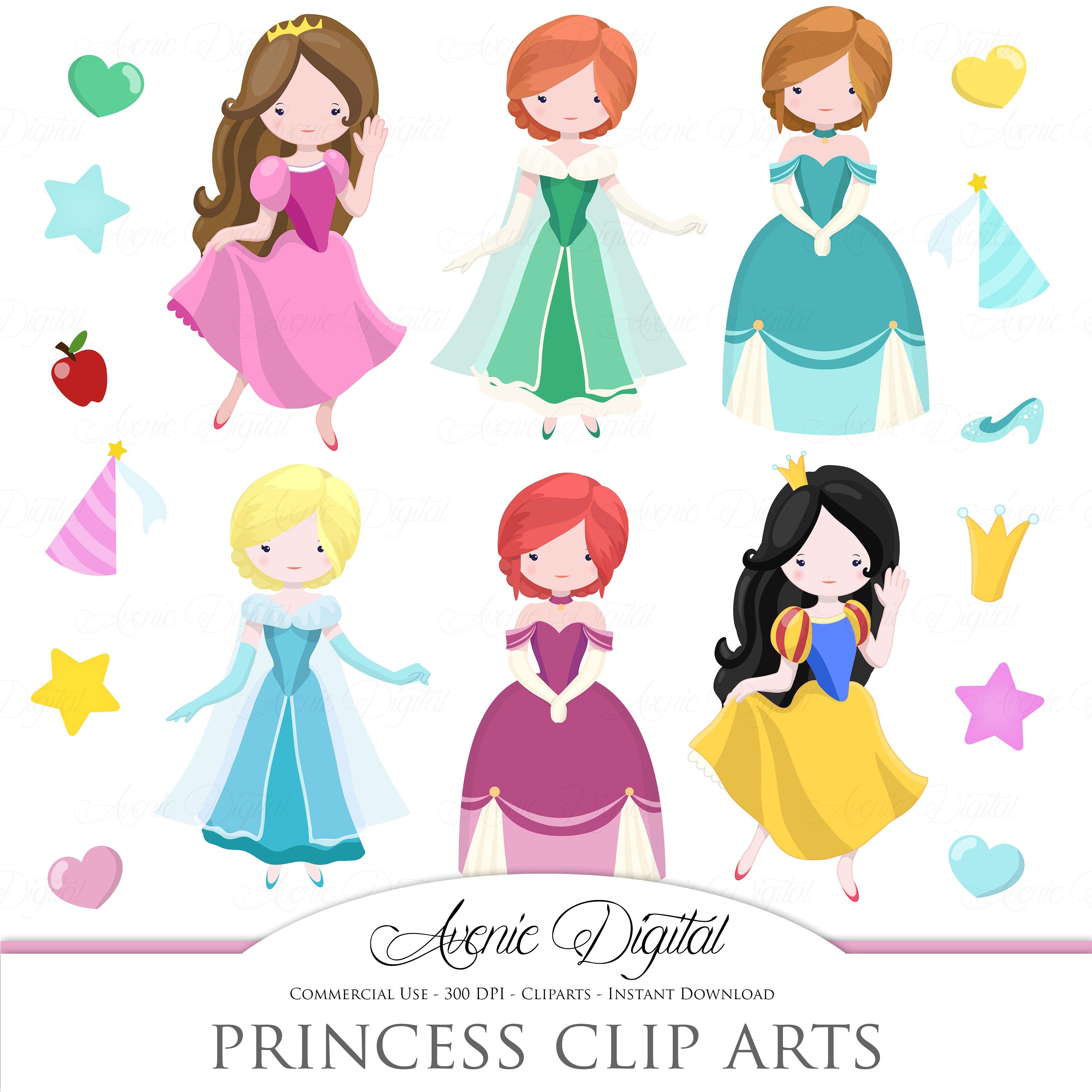 Princess clipart. Fairytale clip art vector