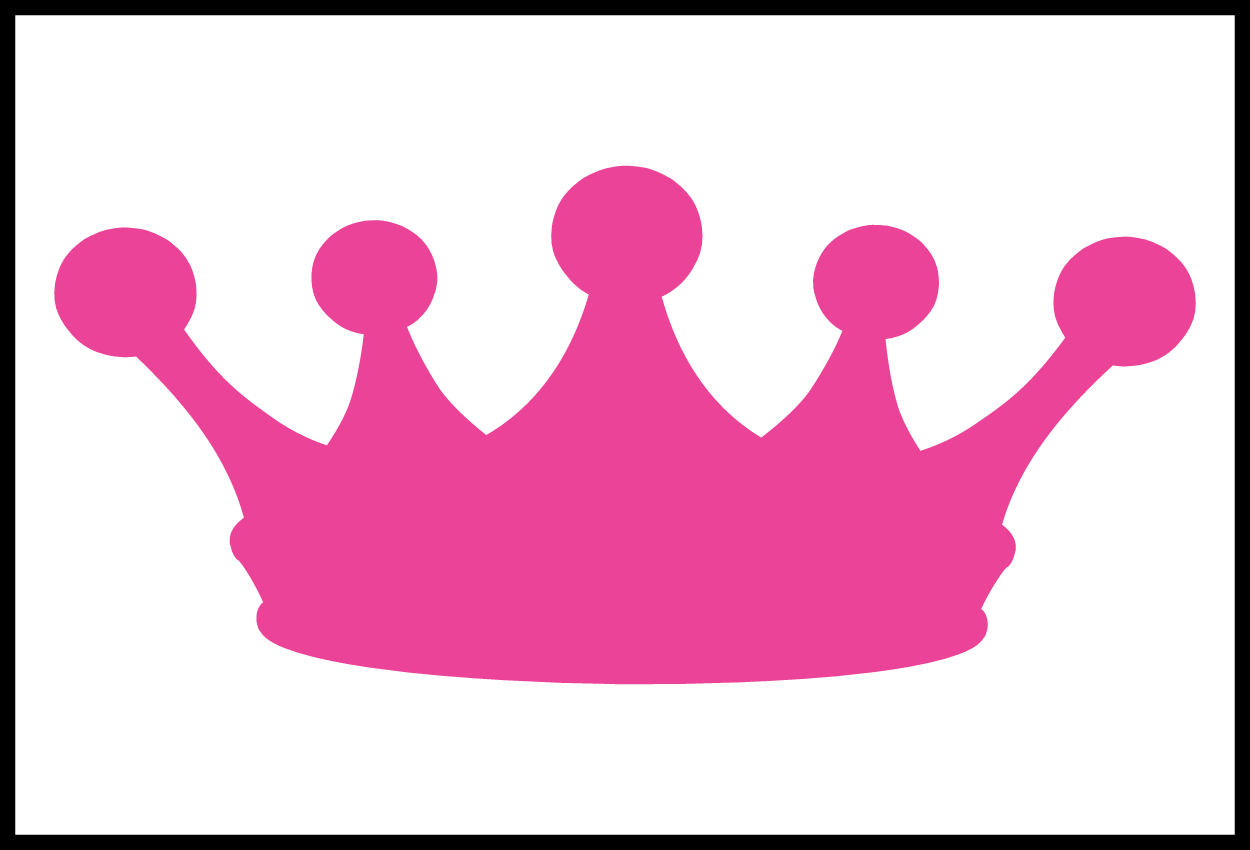 Clip black and white. Princess crown vector png