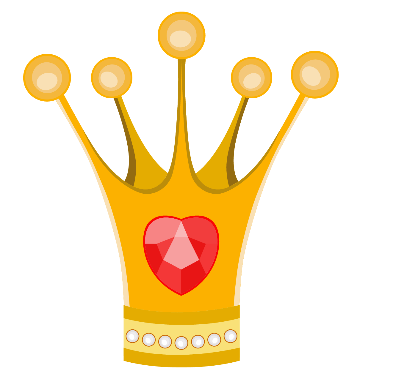 Cartoon material transprent free. Princess crown vector png