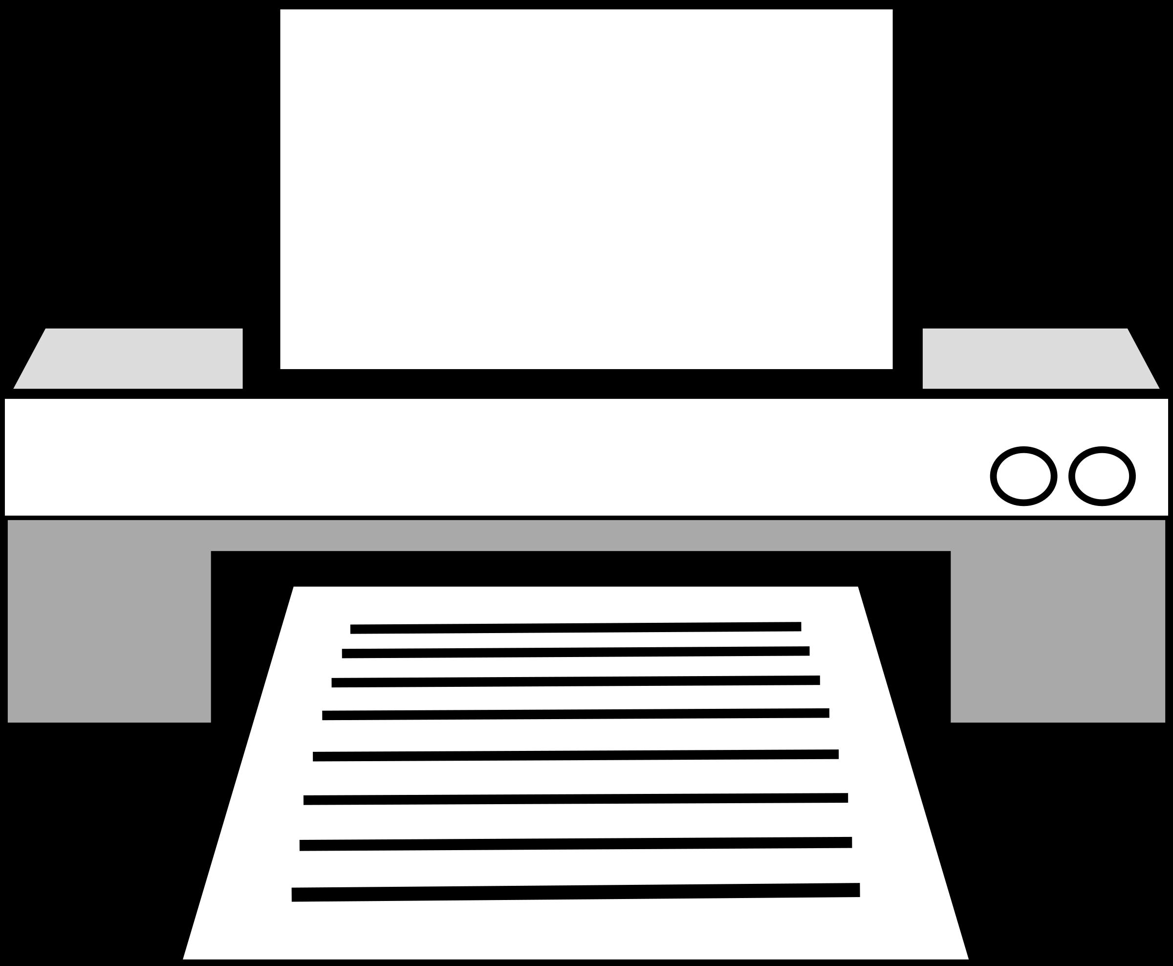 Printer clipart. Big image png