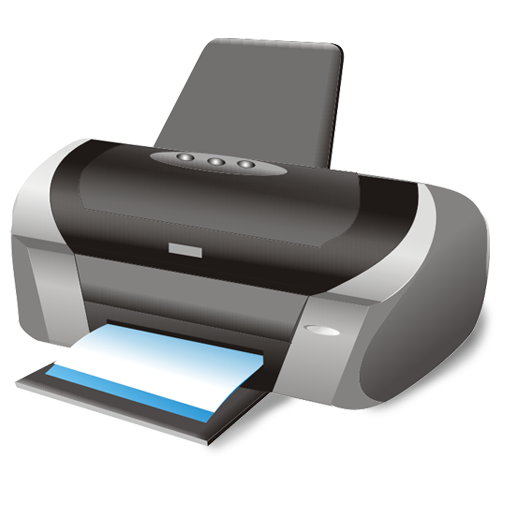 Printing png files. Printer icon large business