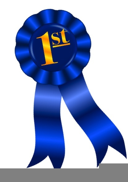 Blue ribbon free images. Prize clipart