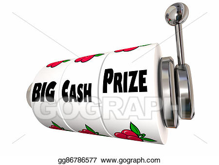 Prize clipart big. Stock illustrations cash lottery