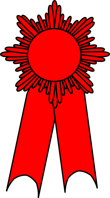 Ribbon red medium image. Prize clipart big