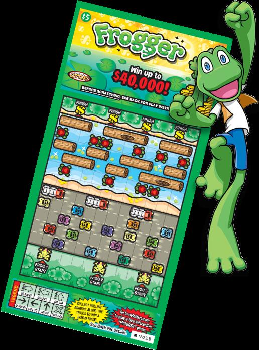 Ne frogger information side. Ticket clipart lottery ticket