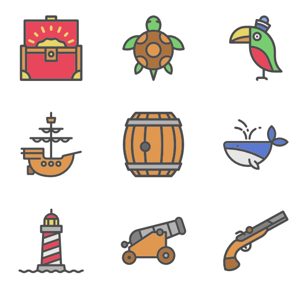 Treasure clipart vector. Free icon download closed