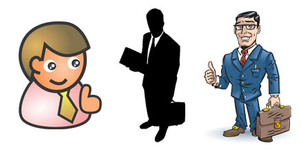 Choosing graphics for elearning. Professional clipart