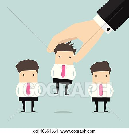Vector picking the right. Professional clipart buisnessman