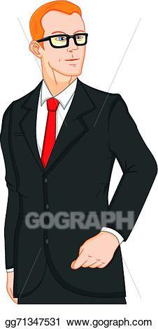 Vector art young businessman. Professional clipart buisnessman