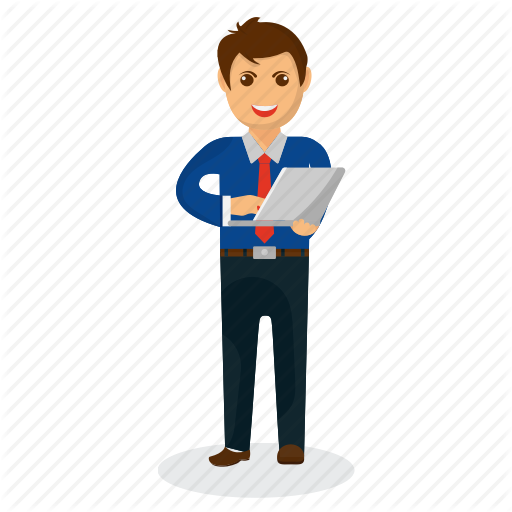 businessman mascot by. Professional clipart business man
