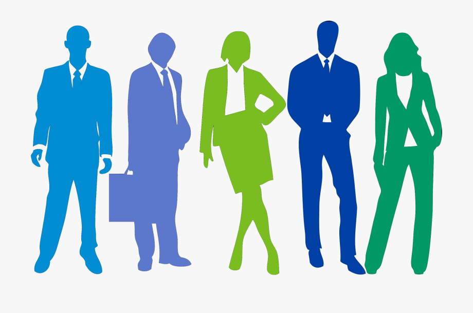 Professional clipart corporate person. People silhouette business man