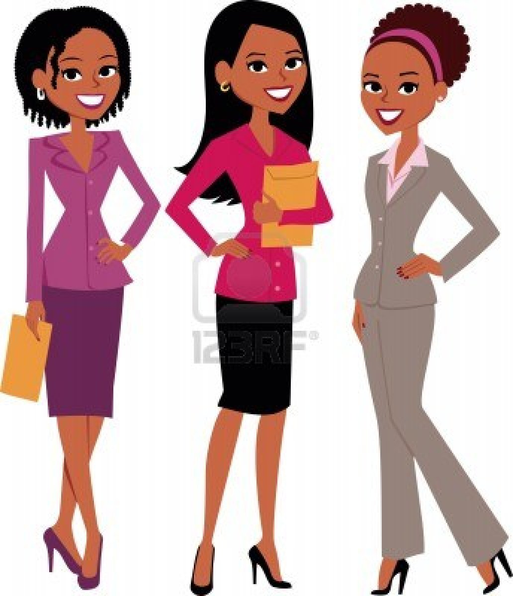 Professional clipart group professional. Of black women clip