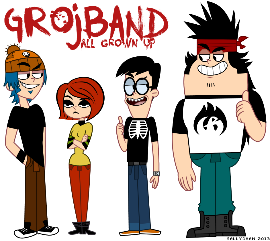 Professional clipart grown up. Grojband all by sallychan