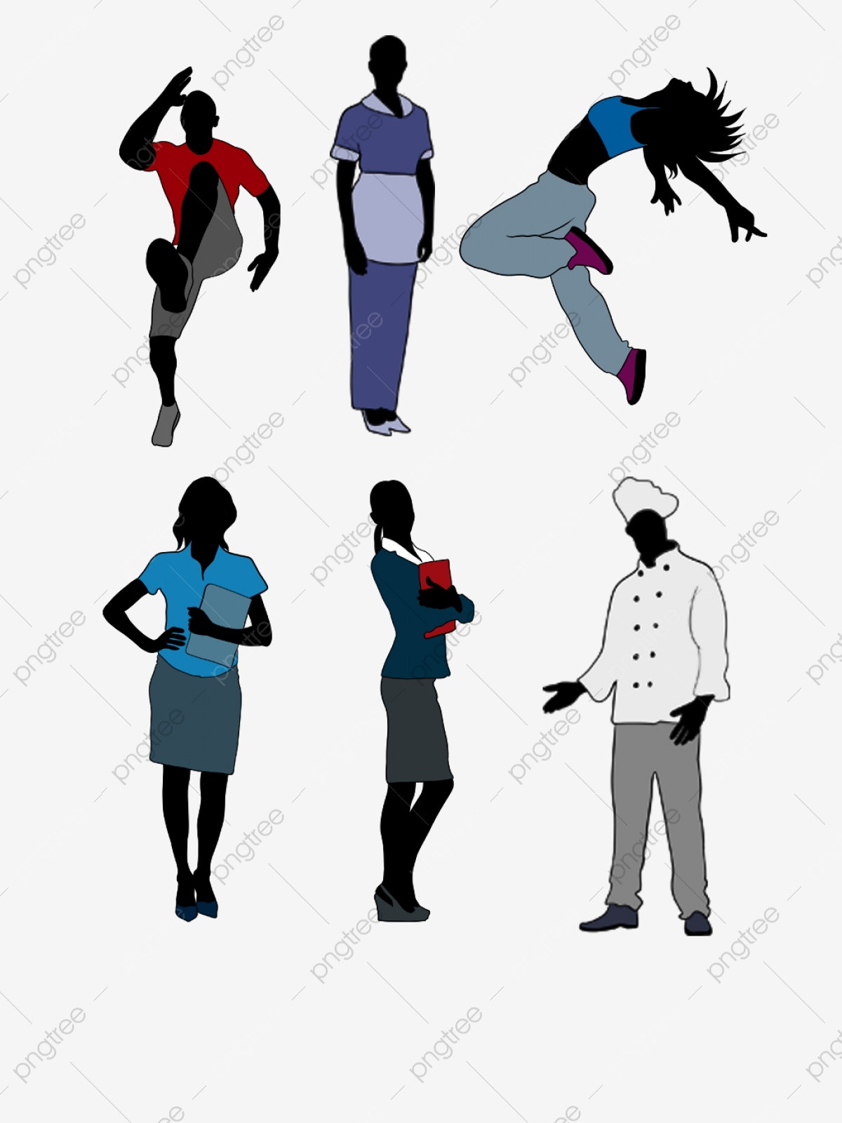 Professional clipart one man. Character silhouette picture
