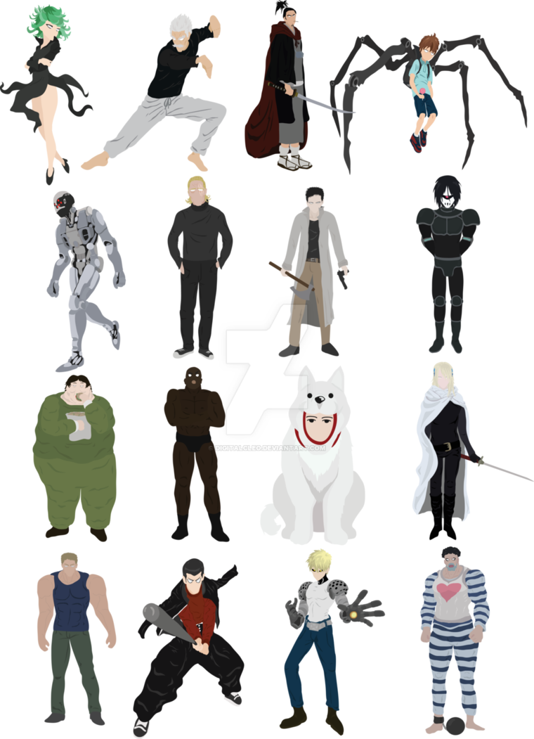 Punch s class heroes. Professional clipart one man