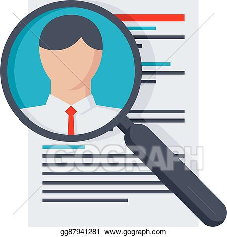 Professional clipart personnel. Vector searching staff