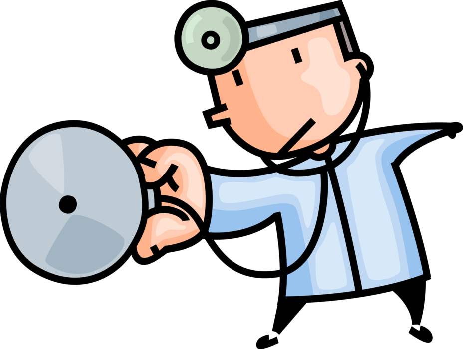 With stethoscope for auscultation. Professional clipart professional doctor