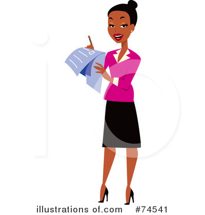 Woman station . Professional clipart professional lady