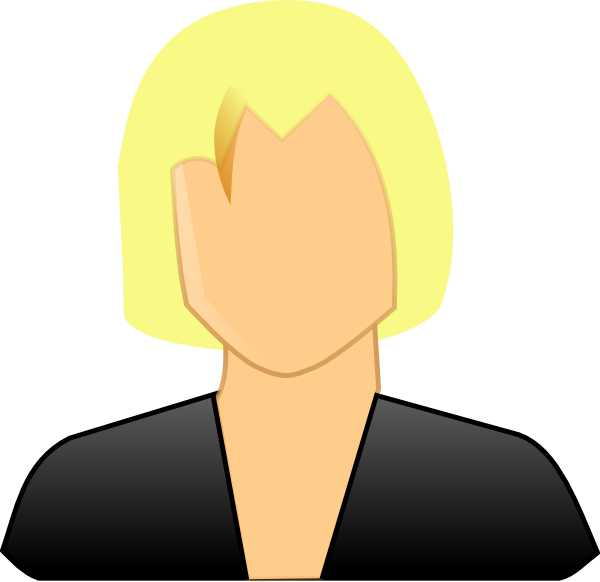Woman user clip art. Professional clipart professional lady