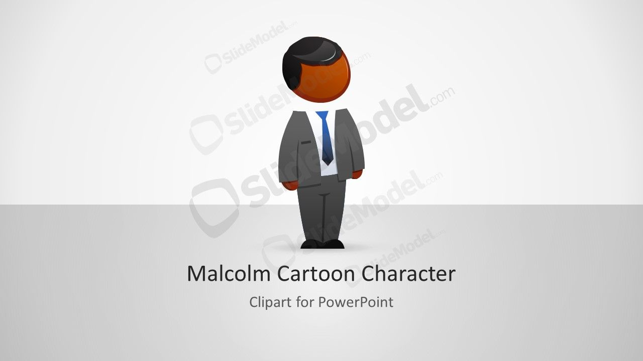 Malcolm character for powerpoint. Professional clipart professional presentation