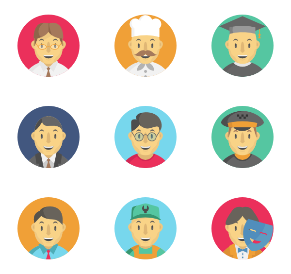 icon packs vector. Professional clipart professional worker