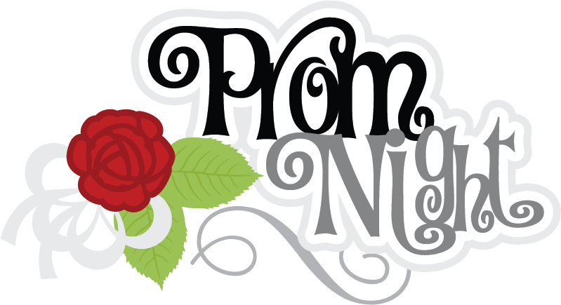 Prom scrapbook title files. Night clipart svg