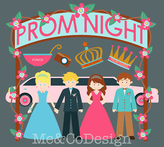 2018 clipart prom night. Fun cute girl and