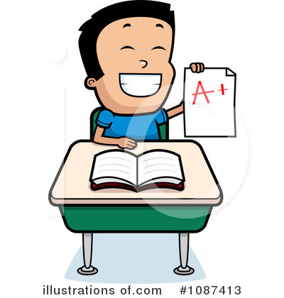 Proud clipart. School boy illustration by