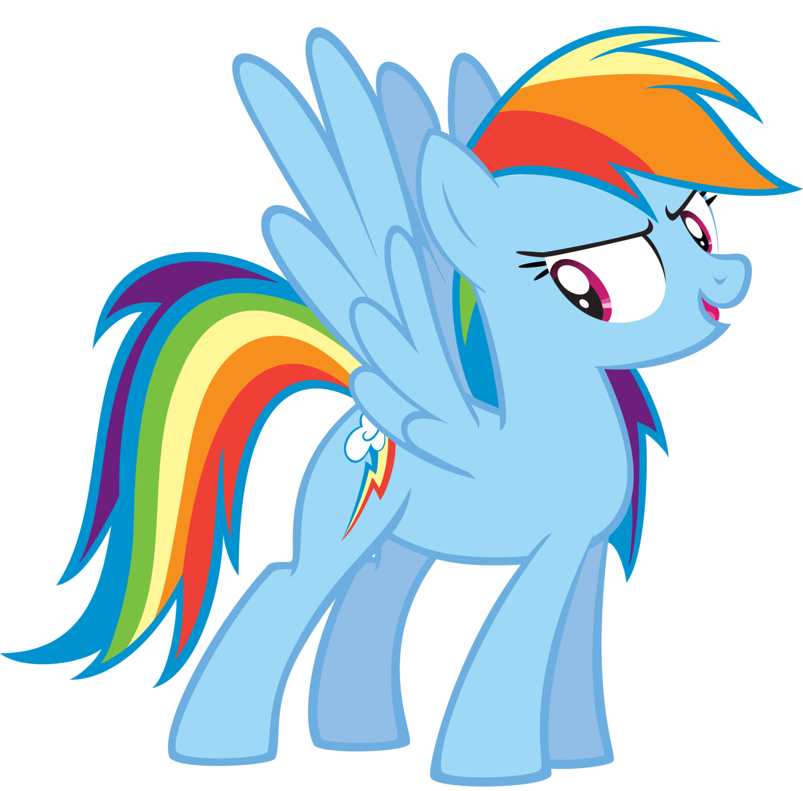 Rainbow is a badass. Proud clipart arrogance