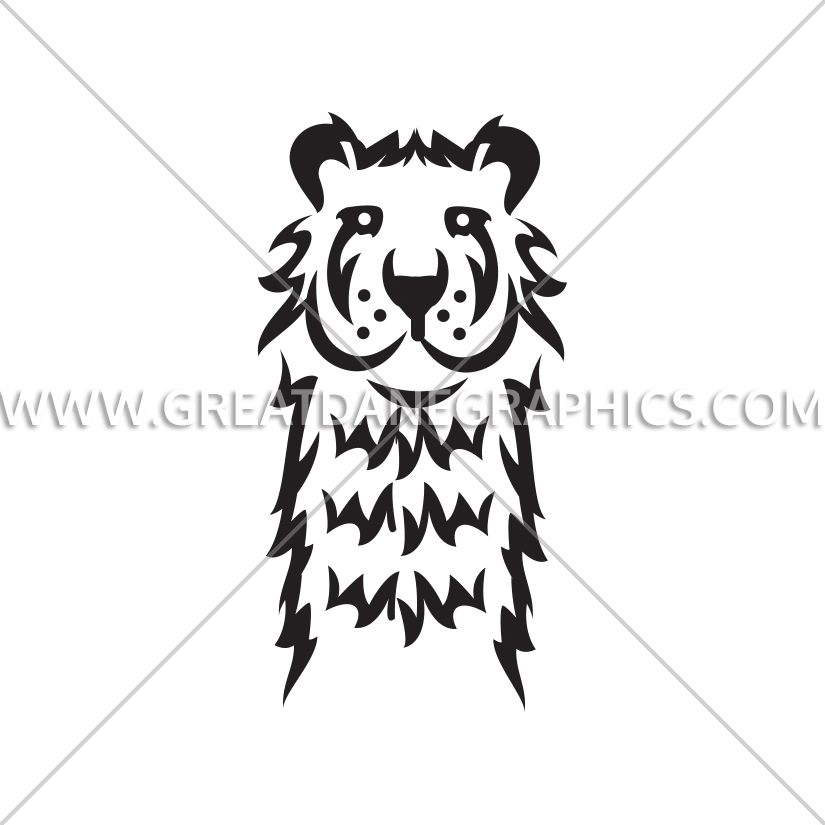 Proud clipart black and white. Tiger production ready artwork
