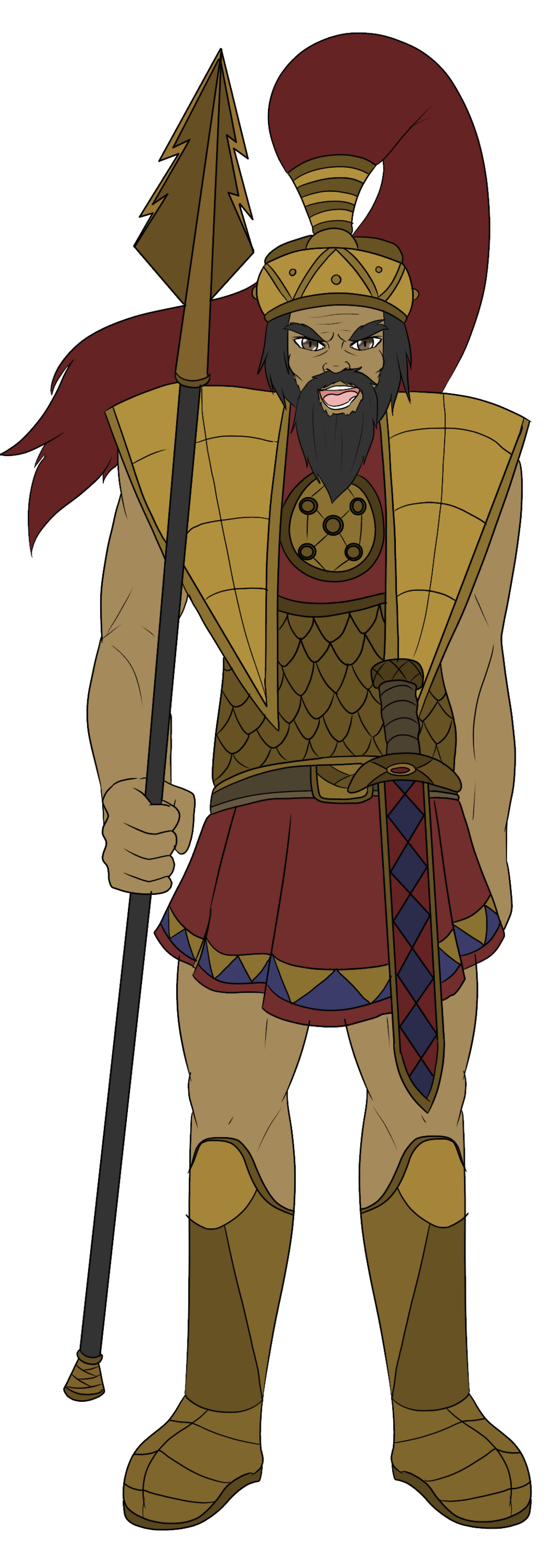 Lancer goliath by moerin. Proud clipart boastful