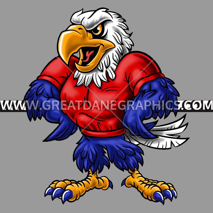 Proud clipart clip art. Cartoon eagle mascot production